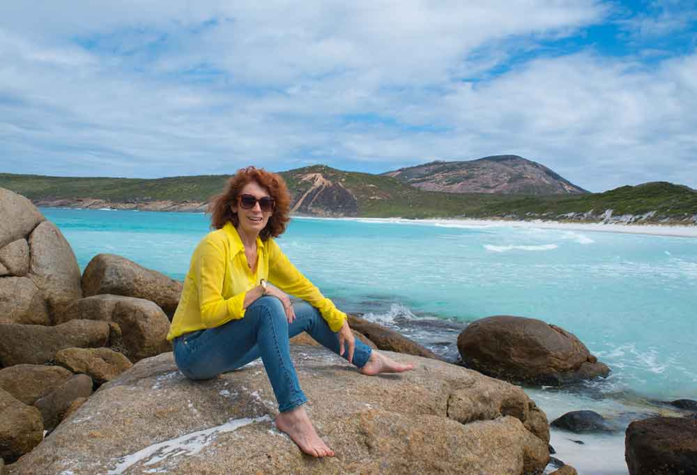 It was windy in the morning at Hellfire Bay near Esperance Western Australia... worth a visit even if it's windy