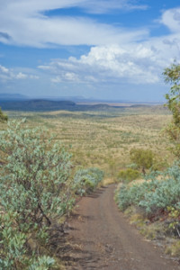 Slowly drive a hill by the name of Mt Shiela. In the Pilbara of Western Australia. From the top of Mt Shiela you get 360 degree views
