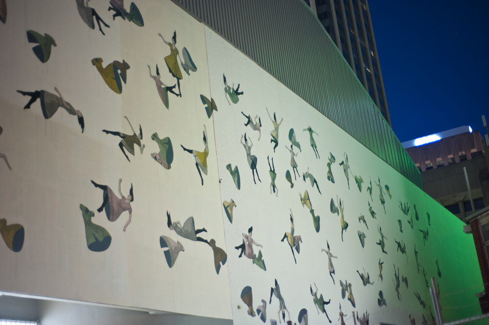 This wall can be found up Wolf Lane off King Street in Perth Central