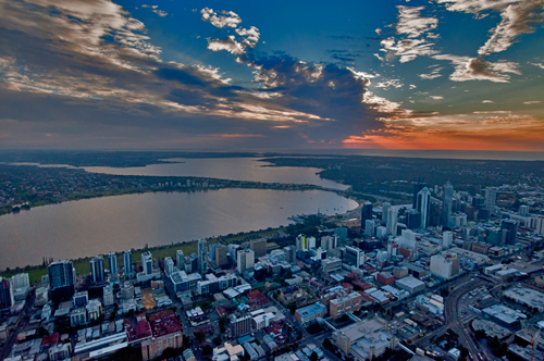 Looking over Perth one night....