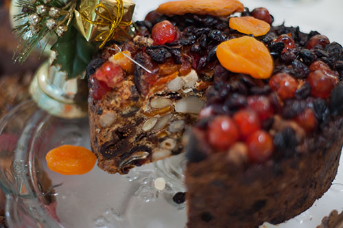 Stained glass gluten free christmas cake is always a huge hit.