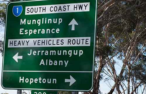 A Typical Road Signs of Western Australia..... Every country has its own style... I love that about travelling!!!!