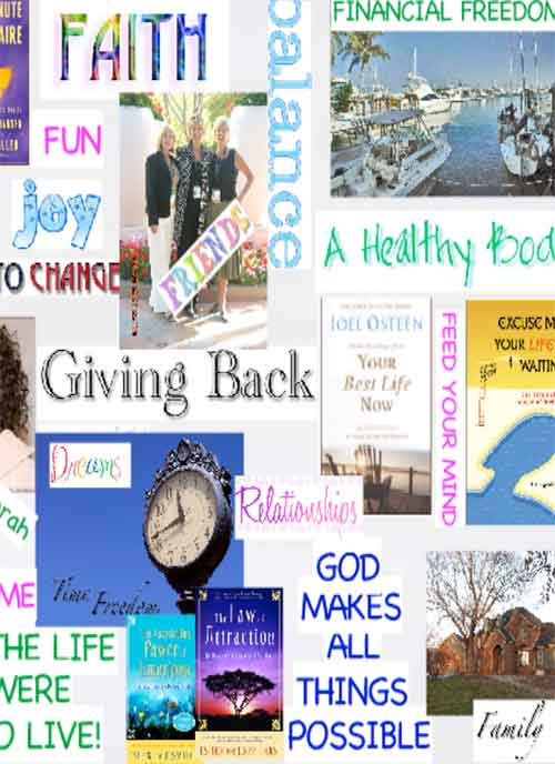 Use a Vision board to see what you want. Cut out photos and words from magazines,