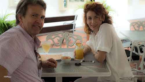Hereis Rob and I at The Raffles, Singapore, testing their gorgeous cocktails