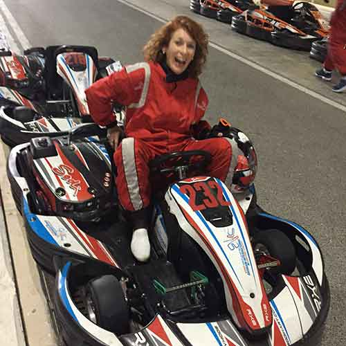 Plus Ehdaa took me go-karting